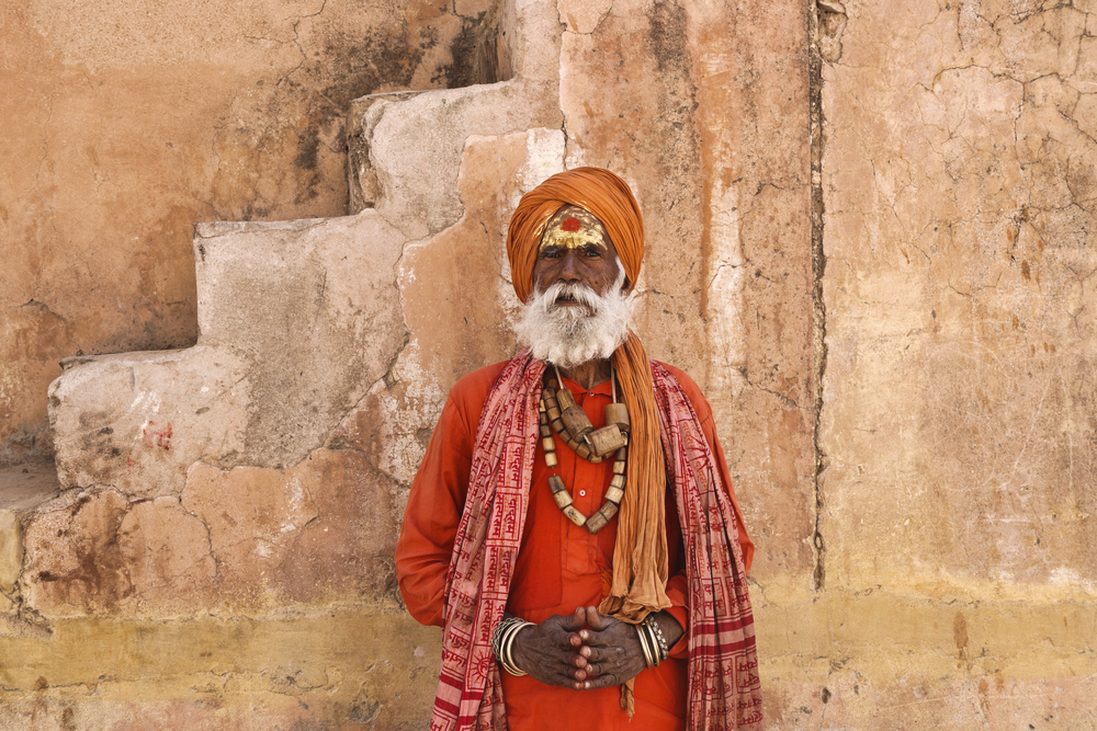 Sadhu at the Amber Fort, Jaipur. Photo: Shutterstock