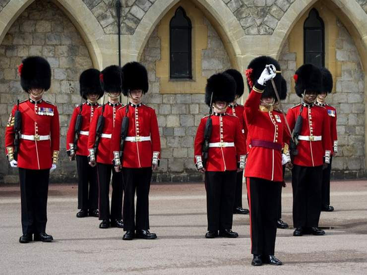 The Changing Of The Guard At Windsor Castle